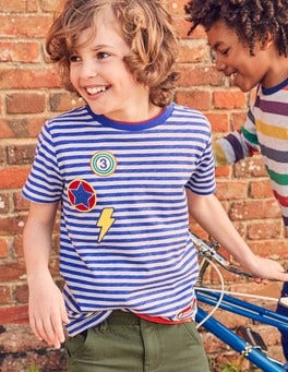 Stripy Patch T-shirt