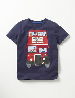 Navy Bus Great British T-shirt