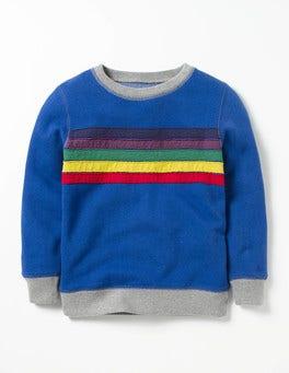 Howlin Blue Stripe Fun Sweatshirt