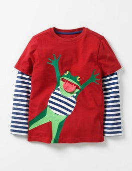 Jammy Dodger Red Frog Layered Fun Animal T-shirt