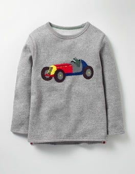 Grey Marl Racing Car Open Road Sweatshirt