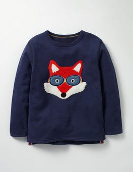 Navy Fox Open Road Sweatshirt