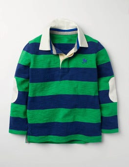 Astro Green/Beacon Blue Slub Rugby Shirt