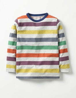 Grey Marl/Multi Stripy T-shirt