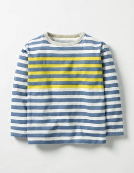 Ecru/Space Blue Stripy T-shirt