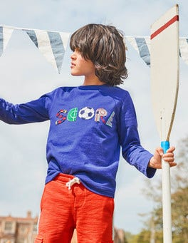 Sporty Appliqué T-shirt