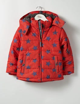 Ziggy Red Star Fun Padded Jacket