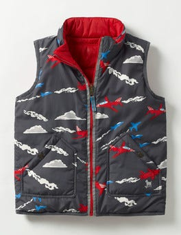 Red/London Grey Jets Reversible Vest
