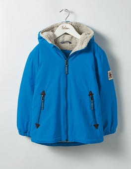 Swedish Blue Sherpa-lined Anorak