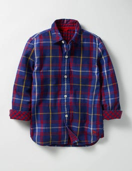 Gymnasium Blue/Red Multicheck Double Cloth Shirt