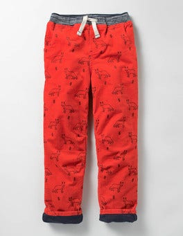 Ziggy Red Fox Lined Cord Pull-on Pants
