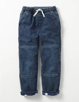 Gewaschen Gefütterte Jeanshose zum Hineinschlüpfen