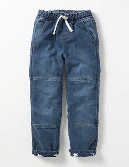 Mid Vintage Lined Denim Pull-on Trousers