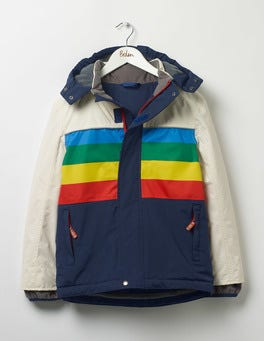 Beacon Blue/Rainbow All-weather Waterproof Jacket