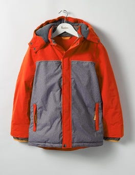 Ziggy Red/Grey Marl All-weather Waterproof Jacket