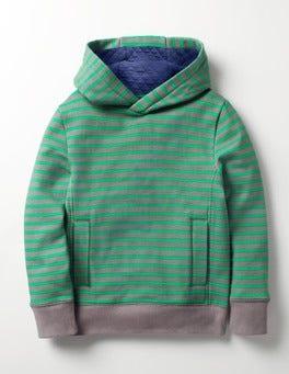 Grey Marl/Astro Green Stripy Hoodie