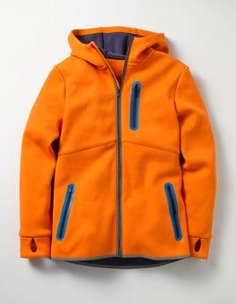 Basketball Orange Active Zip-up Hoodie