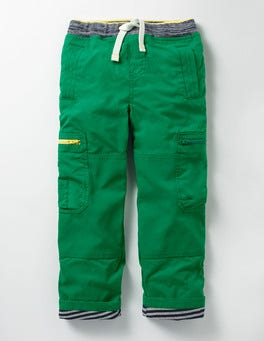 Crocodile Green Lined Pull-on Cargos