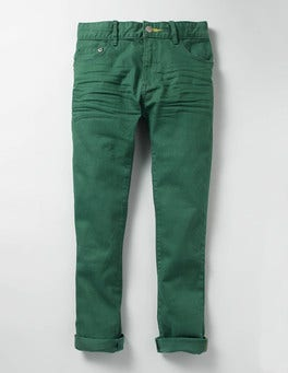 Willow Green Coloured Skinny Jeans