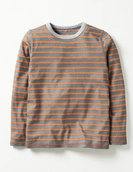 Grey Marl/Acid Orange Supersoft T-shirt
