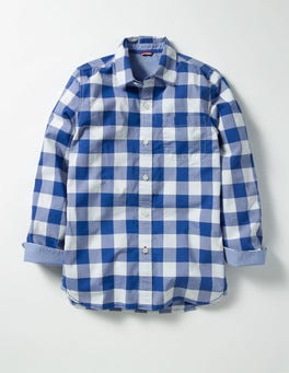 Klein Blue Gingham Laundered Shirt