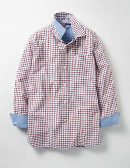 Klein Blue/Red Tattersall Laundered Shirt