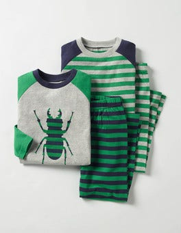 Crocodile Green Bug Twin Pack Pyjamas