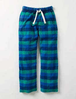 Space Blue and Wild Check Brushed Check Bottoms