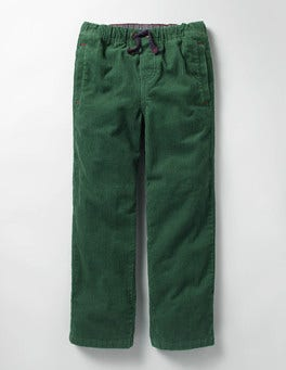Willow Green Cord Pull-on Trousers