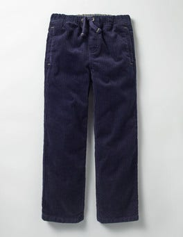 Navy Cord Pull-on Trousers