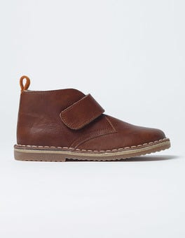 Brown Velcro Desert Boots
