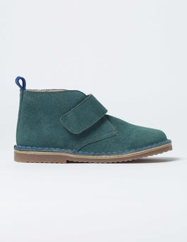 Pine Green Velcro Desert Boots