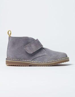 Asteroid Grey Velcro Desert Boots