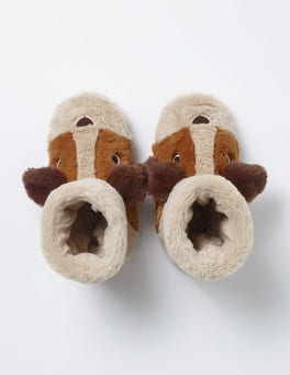 Oatmeal Puppy Slippers