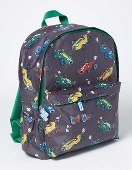 London Grey Speedy Sprout Printed Rucksack