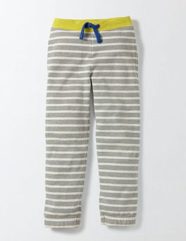 Grey Marl and Ivory Stripe Fun Track Pants