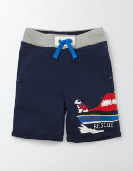 Navy Appliqué Sweatshorts