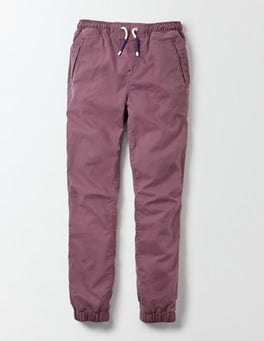 Burnt Aubergine Woven Joggers