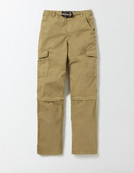 Organic Green Zip-off Cargos