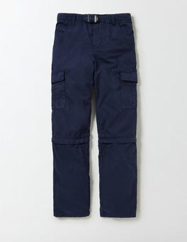 Navy Zip-off Cargos