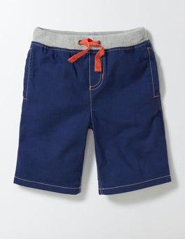 Beacon Blue Rib Waist Shorts