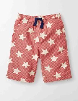 Red Star Print Printed Board Shorts