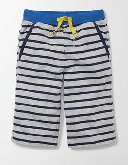 Grey Marl and Mini Navy Stripe Jersey Baggies