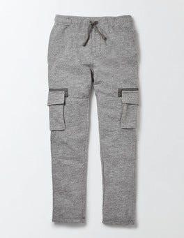 Grey Marl Jaspé Slub Jersey Cargo Pants