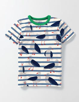 Sea Cadet Gulls Stripe Printed T-shirt