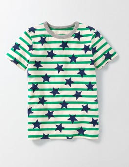 Beacon Star Stripe Printed T-shirt