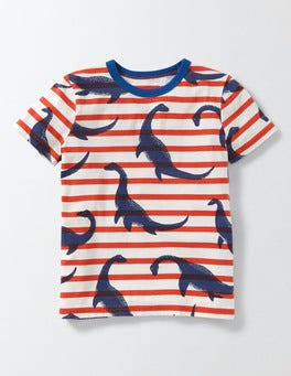 Ziggy Nessie Stripe Printed T-shirt