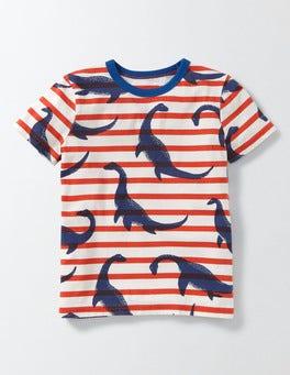 Ziggy Nessie Stripe Printed T-shirt