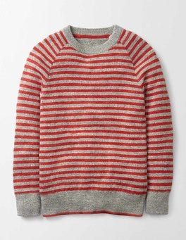 Ziggy Red Simple Crew Jumper