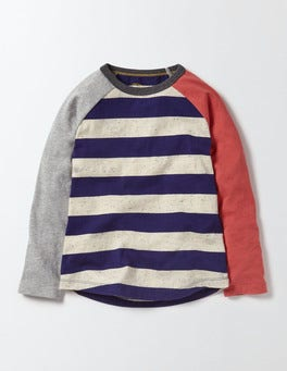 Workwear Blue Hotchpotch Raglan T-shirt